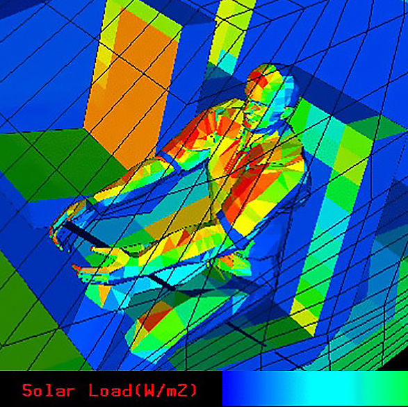 CBE thermal comfort simulation in automotive cabin