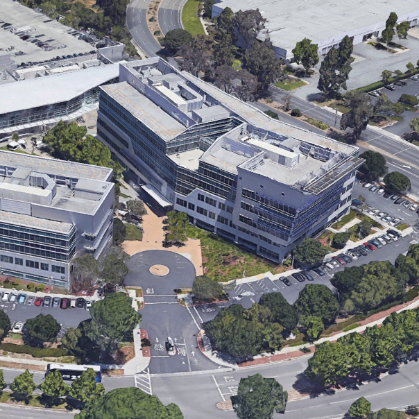 Aerial view of the Yahoo! campus, site of CBE's airflow minima field study.